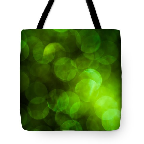 Emerald Bokeh Tote Bag