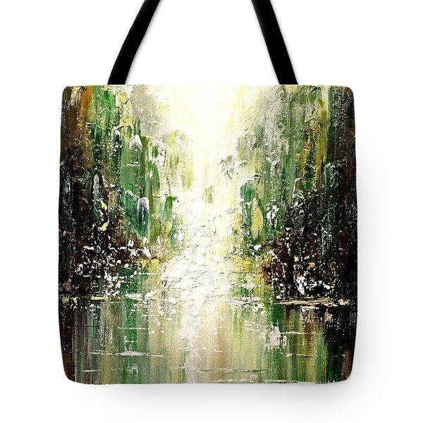 Emerald City Falls Tote Bag