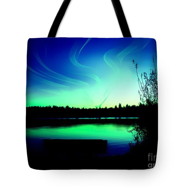 Tote Bag featuring the photograph Emerald City Sunset At Lake Ballinger by Eddie Eastwood