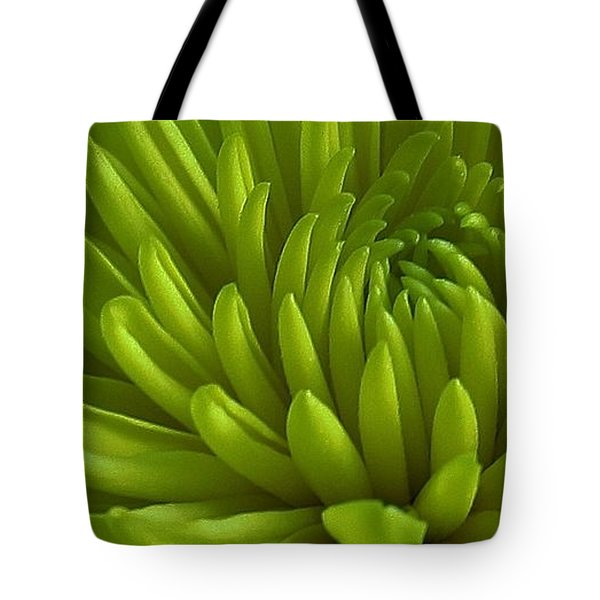 Emerald Dahlia Tote Bag