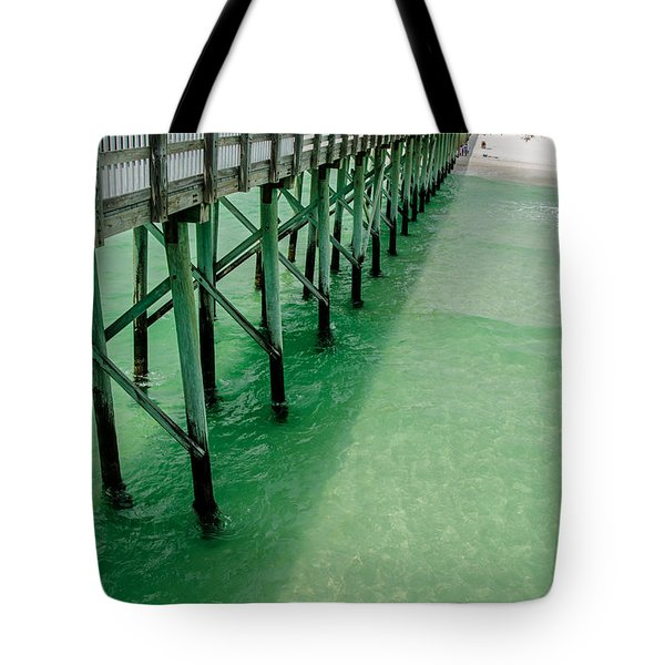 Tote Bag featuring the photograph Emerald Green Tide  by Susan  McMenamin