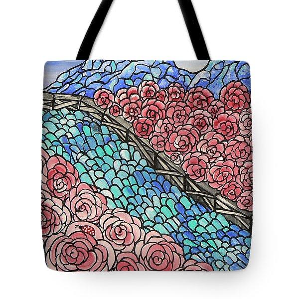 Emerald River Roses Tote Bag by Barbara St Jean