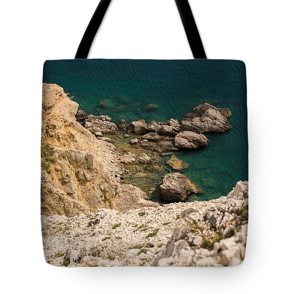 Emerald Sea Tote Bag by Davorin Mance