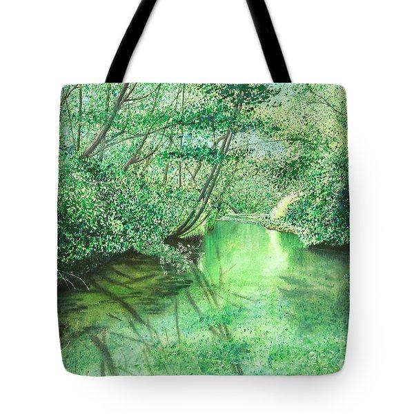 Emerald Stream Tote Bag