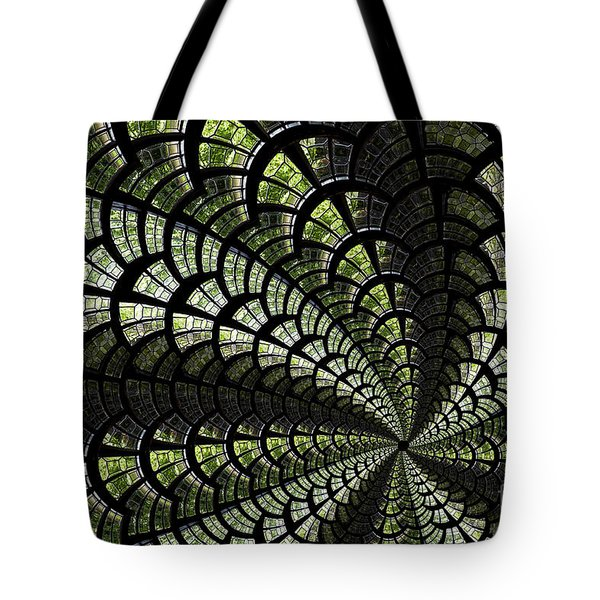 Emerald Whirl. Tote Bag by Clare Bambers