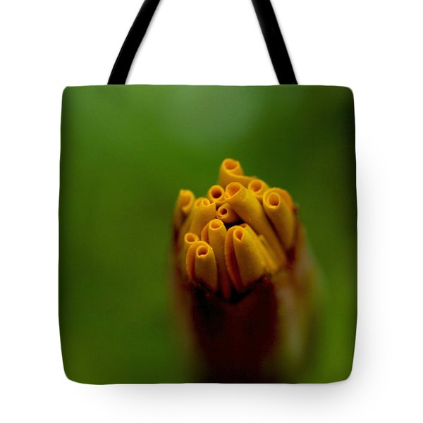Emerging Bud - Yellow Flower Tote Bag