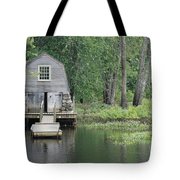 Emerson Boathouse Concord Massachusetts Tote Bag by Amy Porter