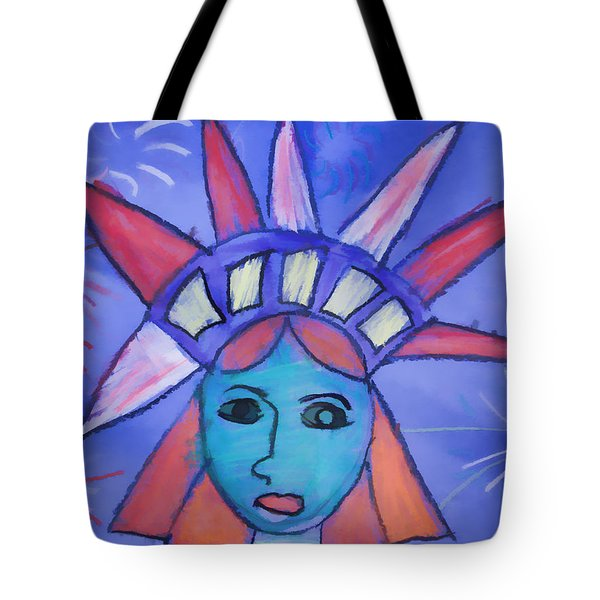 Emma's Lady Liberty Tote Bag by Alice Gipson