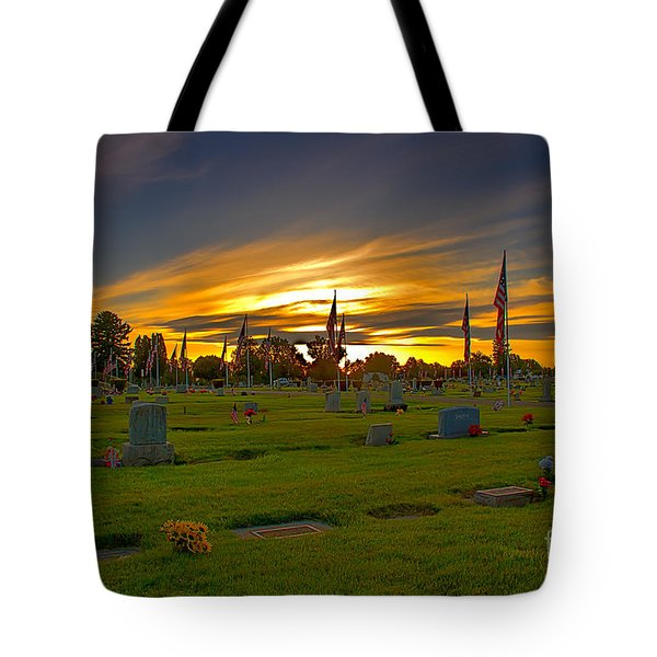 Emmett Cemetery Tote Bag by Robert Bales