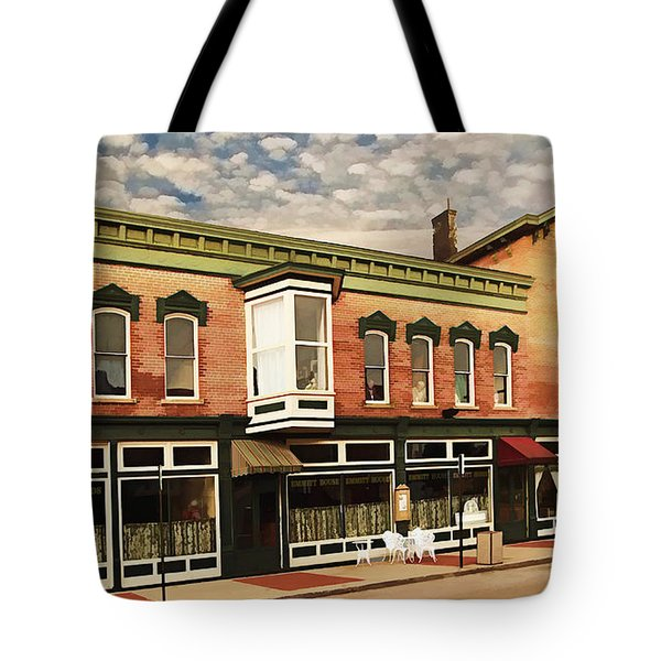 Emmitt House At Emmitt Avenue Tote Bag by Jaki Miller