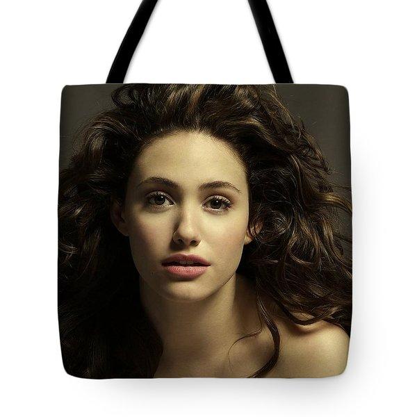 Emmy Rossum Tote Bag