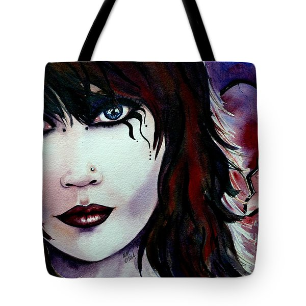 Emo Girl Tote Bag