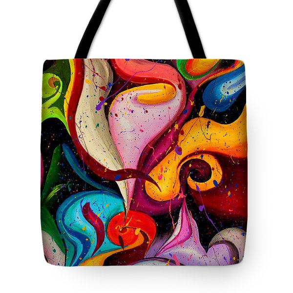 Modern Colorful Abstract  Tote Bag