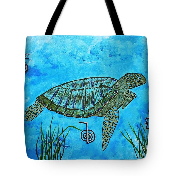 Emotional Healing With The Sea Turtle Tote Bag