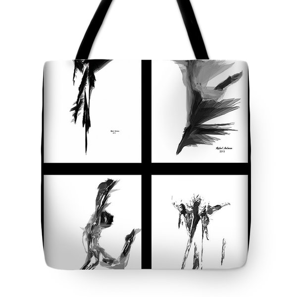 Emotions In Black - Abstract Quad Tote Bag by Rafael Salazar