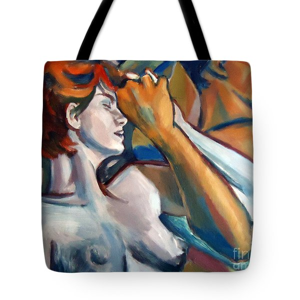 Tote Bag featuring the painting Empathy by Helena Wierzbicki