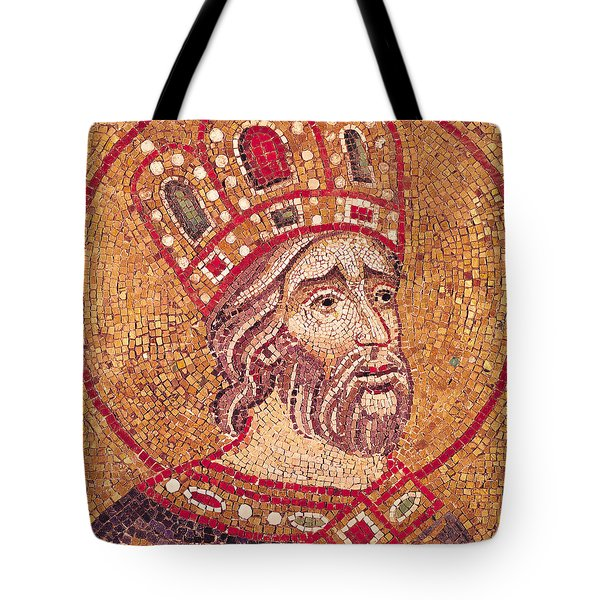 Emperor Constantine I Tote Bag by Byzantine School