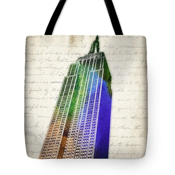 Empire State Building Tote Bag by Aged Pixel