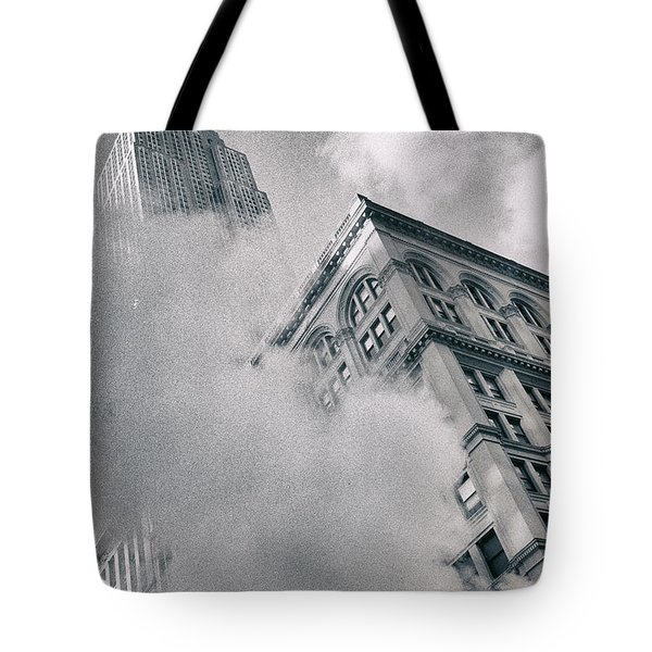 Empire State Building And Steam Tote Bag