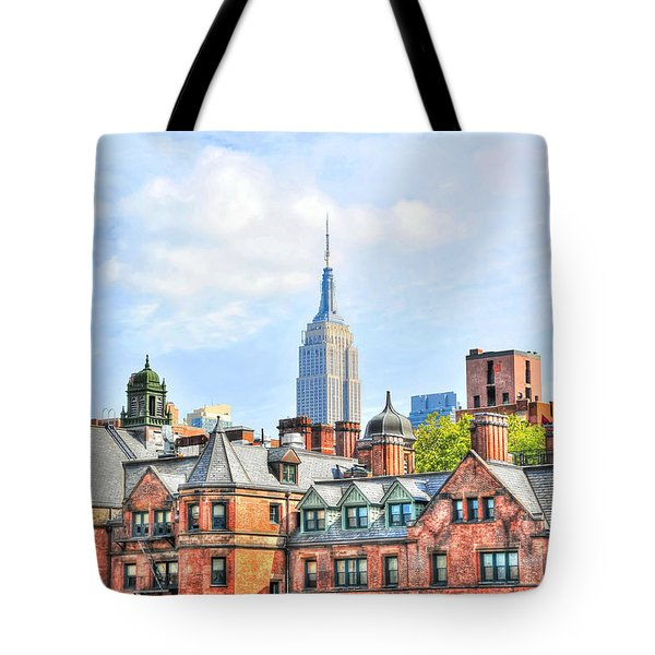 Empire State Building From The High Line Tote Bag by Randy Aveille