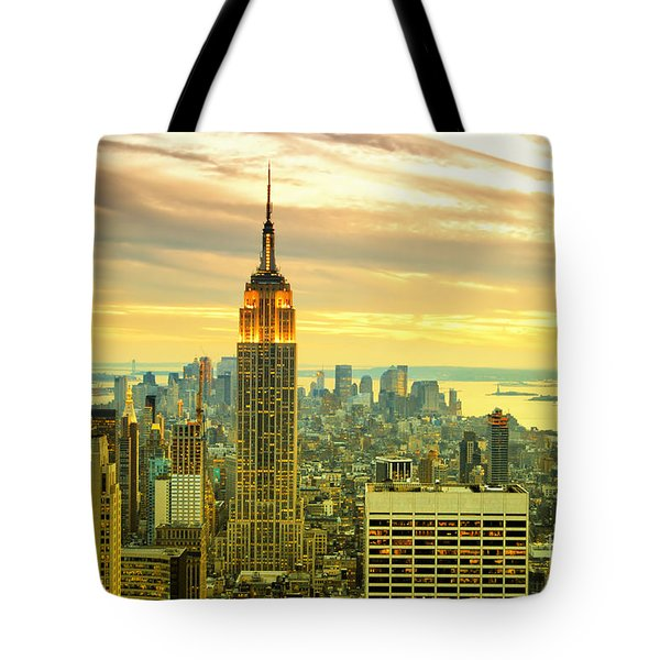 Empire State Building In The Evening Tote Bag