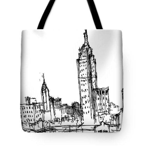 Empire State Building  Tote Bag by Jason Nicholas