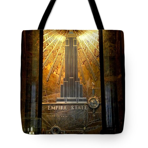 Empire State Building - Magnificent Lobby Tote Bag by Miriam Danar