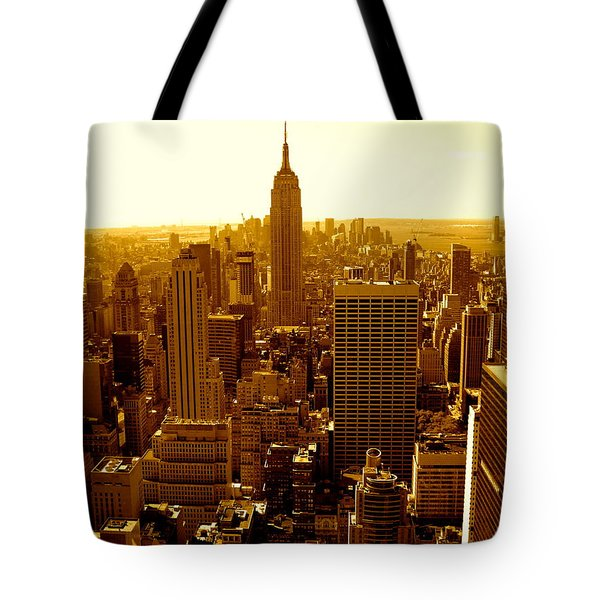 Manhattan And Empire State Building Tote Bag