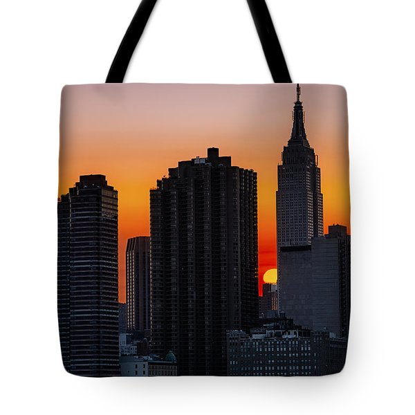 Empire State Building Sunset Tote Bag by Susan Candelario