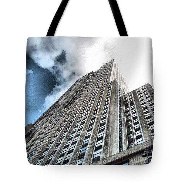 Empire State Building - Vertigo In Reverse Tote Bag by Luther Fine Art