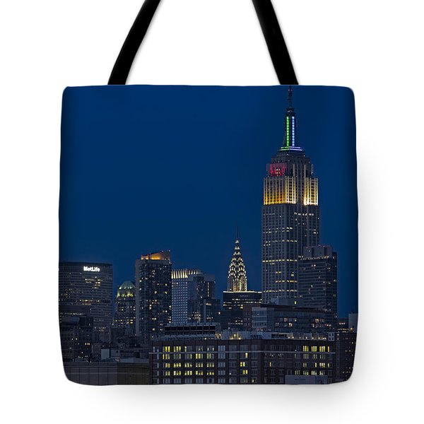Empire State Twilight Tote Bag by Susan Candelario