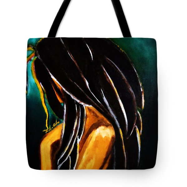 Tote Bag featuring the painting Empress by Tarra Louis-Charles