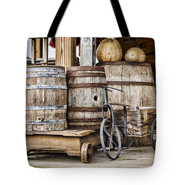 Emptied Barrels Tote Bag