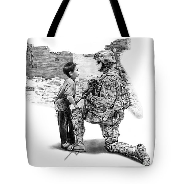 Tote Bag featuring the drawing Empty Pockets  by Peter Piatt