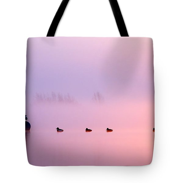 Empty Spaces 2 - Sunrise In The Mist Tote Bag