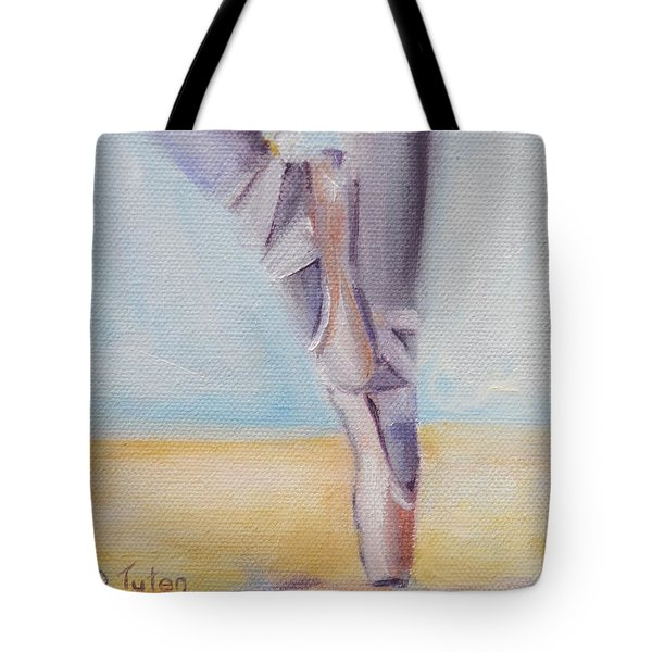 En Pointe Tote Bag by Donna Tuten