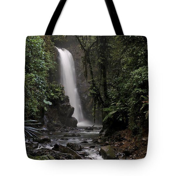 Encantada Waterfall Costa Rica Tote Bag by Teresa Zieba