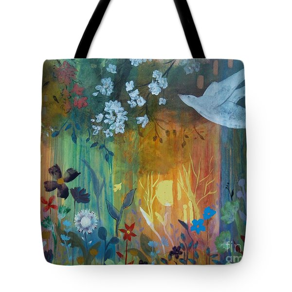 Tote Bag featuring the painting Encantador by Robin Maria Pedrero