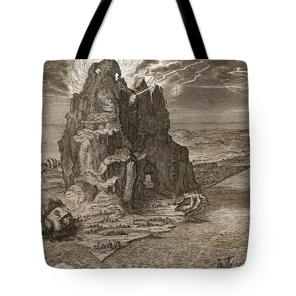 Enceladus Buried Underneath Mount Etna Tote Bag by Bernard Picart