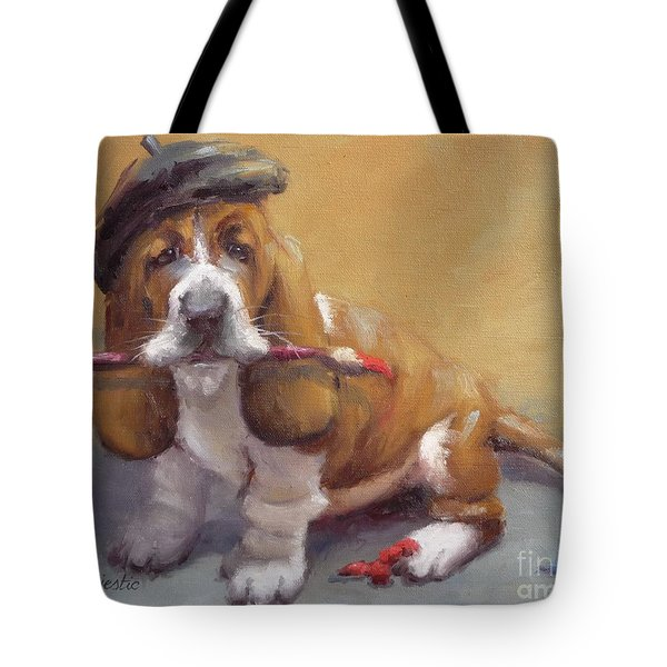 Enchanted Basset Hound Artist Tote Bag