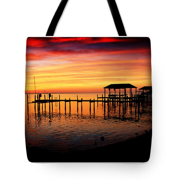 Enchanted Evening At The Hilton Pier Tote Bag