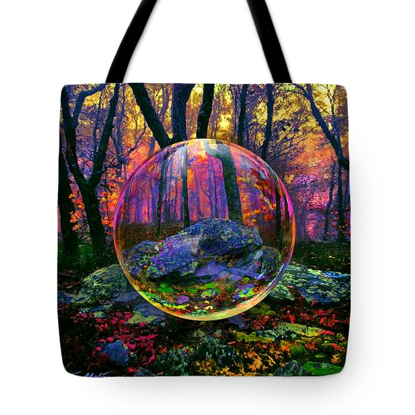 Tote Bag featuring the painting Enchanted Forest by Robin Moline