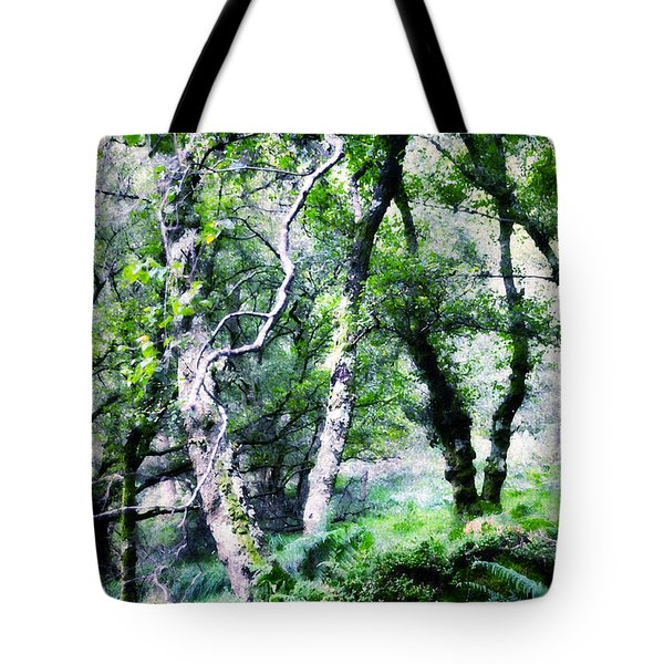 Enchanted Forest. The Kingdom Of Thetrees. Glendalough. Ireland Tote Bag by Jenny Rainbow