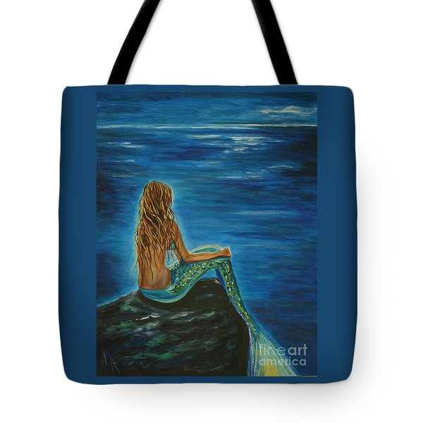 Enchanted Mermaid Beauty Tote Bag by Leslie Allen
