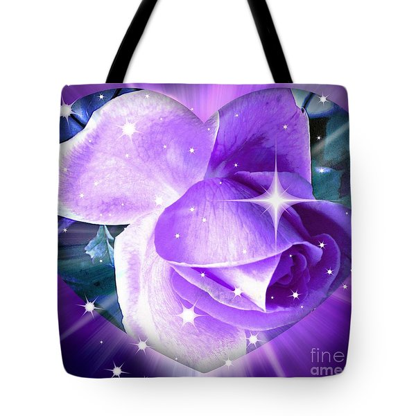 Enchanted Rose Tote Bag by Judy Palkimas