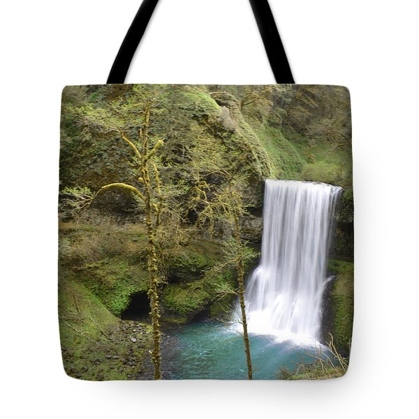 Enchanted Wilderness Waterfall Tote Bag by Andrea Hazel Ihlefeld