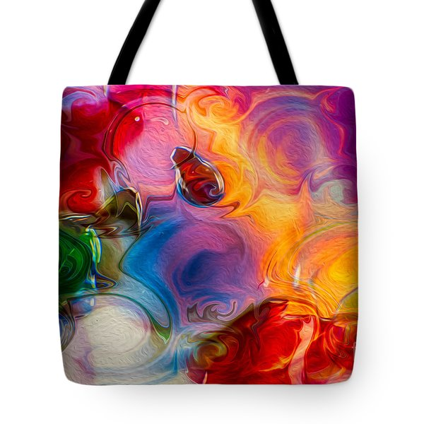 Enchanting Flames Tote Bag