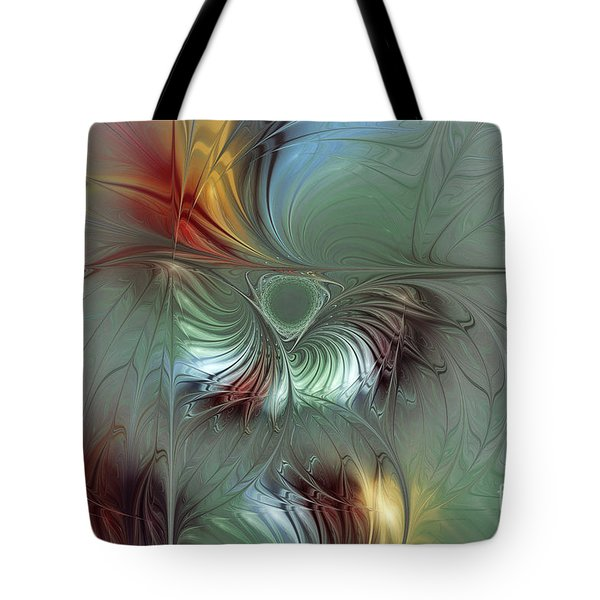 Enchanting Flower Bloom-abstract Fractal Art Tote Bag by Karin Kuhlmann