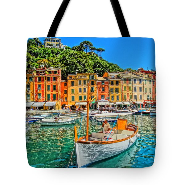 Enchanting Portofino In Ligure Italy V Tote Bag by M Bleichner