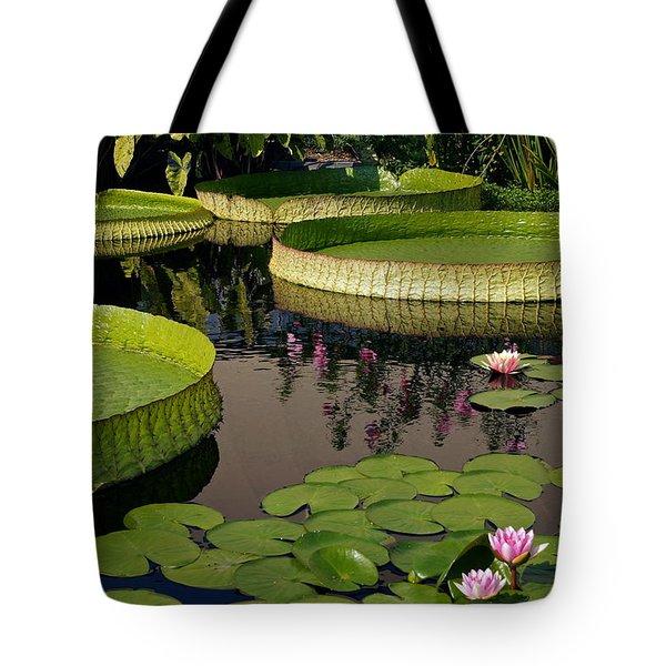 Enchanting Water Garden Tote Bag by Byron Varvarigos